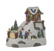 "Luville Winter Scene ""purzelnde Children"" Animated Christmas Village Winter Vill..."
