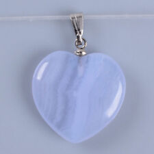 g3731 20mm Blue lace agate heart pendant