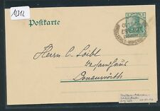 12312) Bahnpost Ovalstempel Strassburg - Molsheim - Schlettstadt ZUG 487 GA 1910