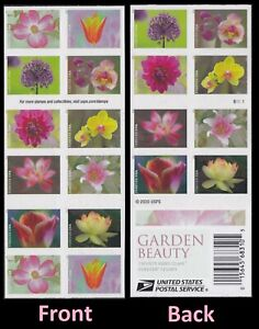US 5558-5567 5567b Garden Beauty forever booklet (20 stamps) MNH 2021