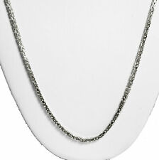 "13 gram 14k Gold White Solid Men's Women's Byzantine Chain Necklace 20"" 2 mm"
