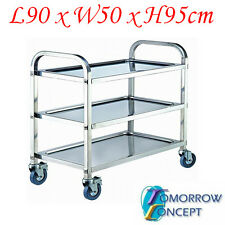 Stainless Steel 3 Tier Trolley 900x500 TY918L