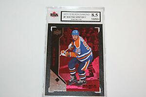 Wayne Gretzky 2011-12 Black Diamond RUBY RED Hockey Card #70/100 KSA Graded 8.5!