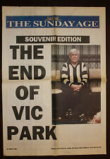 1999 The Sun The End of Vic Park Lou Richards Collingwood Newspaper Poster