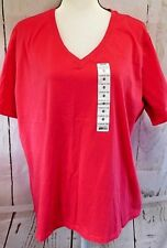 Pink Plus Size 3X V Neck Short Sleeve Top NWT Great Northern Clothing Company