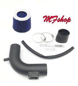 Coated Black-Blue For 2013-2019 Nissan Sentra 1.8L L4 Air Intake Kit + Filter