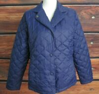 L.L. Bean Women's PM Nylon Puffer Quilted Jacket Purple size Petite Medium