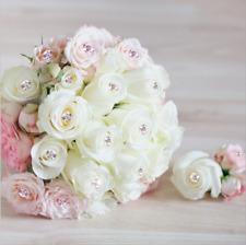 Decorative wedding flowers fixed transparent crystal diamond pin