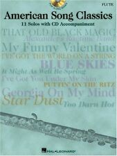 """""""AMERICAN SONG CLASSICS"""" PLAY-ALONG FOR FLUTE MUSIC BOOK/CD-BRAND NEW ON SALE!!"""