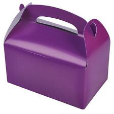 24 PURPLE COLOR TREAT BOXES Birthday Party Loot Goody Bags #ST23 FREE SHIPPING
