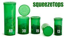 (50) Squeeze Pop Top 13 Dram Prescription Container Pill Bottle Tubes Vial Herb