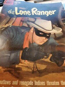 1959 Dell LONE RANGER Comic #128 Clayton Moore Photo Cover (VG-)