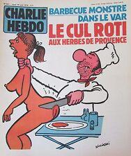 CHARLIE HEBDO N° 457 de AOUT 1979 WOLINSKI BARBECUE MONSTRE DANS LE VAR