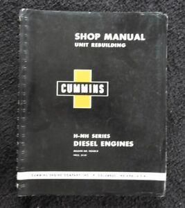 CUMMINS H Hs Hrc Hrf Hrs NT Nto Nhe NRT Nft Motore Diesel Negozio Repair Manuale