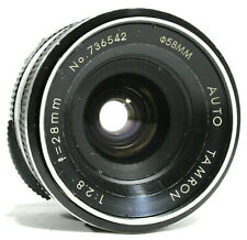 Auto Tamron F2.8 28mm Wide Angle Prime Lens M42 Pentax UK Fast Post