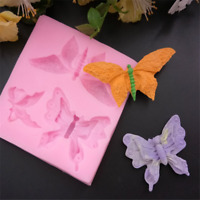 Butterfly Silicone Fondant Soap 3D Cake Mold Cupcake Jelly Candy ONE