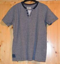 here&there Shirt Blau Gestreift Kurzarm Gr. 146-152 100% Baumwolle