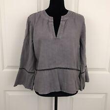 Cloth And Stone Womens Size Medium Gray 100% Tencel Blouse