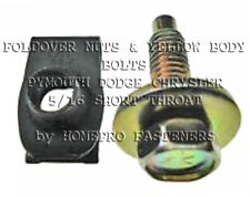 5/16 YELLOW FENDER BOLTS & SHORT FOLDOVER NUTS 24 (9520) GM CHEVY BUICK OLDS PO