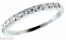 Diamond Wedding Ring Band 0.30 Carats Womens 14K White Gold Anniversary Guard