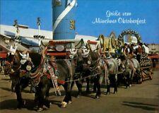Ansichtskarte München Oktoberfest - Schmuckwagen - Pferde 1988