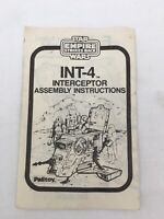 Star Wars Vintage INT-4 Palitoy Instructions Empire Strikes Back