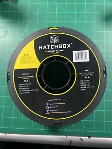 HATCHBOX PLA 3D Printer Filament +/- 1kg Spool, 3mm, Yellow NEW OPEN BOX