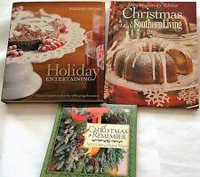Lot of 3 Cookbooks: Williams Sonoma Holiday~Christmas Southern Living~Hallmark