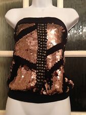 Next Bandeau Top Sequinned Club Wear Size 10 Vgc Fit 8 / 10