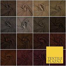 Luxe 100% polyester Uni Fine Doux Soyeux Crêpe Robe Tissu Toutes Couleurs