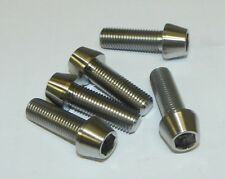 5x Titanium M10 x 1.25 x 30mm Fine Cone Allen Socket Head Bolts Light Weight