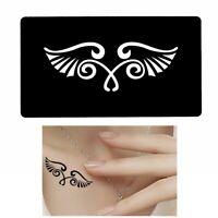Henna Tattoo Schablone Airbrush Stencil Dövme Selbstklebend Flügel
