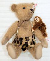 NEW STEIFF JOHNNY AND JOCKO 035104 MOHAIR BEAR WITH CHIMPANZEE LE 29/1500
