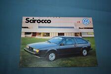 1983 Volkswagen VW Scirocco Sales Brochure Canadian