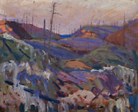 Fire-swept Hills by Tom Thomson Fine Art Print on Canvas HQ Giclee Poster Small
