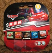 NEW~ROXO ~ SILICONE BRACELET WITH 5 CHARMS~ DISNEY CARS~ SMALL~
