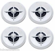 "15"" LANCER Style FLIPPER Hot Rod Custom Chrome Hubcaps Wheelcover SET"