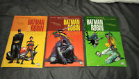 BATMAN & ROBIN lot set run of 3 Deluxe Hardcovers Morrison