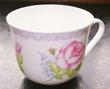 Roy Kirkham Large Breakfast Cup 'Lilac Roses' Fine Bone China NEW