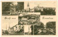 Ansichtskarte Chomutov / Komotau - Gastwirtschaft 3. Grundmühle-Stadtpark-Kirche