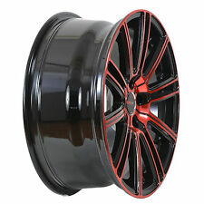 4 GWG Wheels 18 inch Crimson Red FLOW Rim fits ET40 HONDA ACCORD COUPE V6 2016