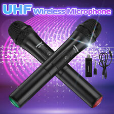 2Pcs Uhf Wireless Microphone Cordless Handheld Karaoke Mic With Usb Receiver Ф