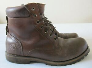 GENUINE TIMBERLAND WATERPROOF MENS RUGGED ROUGHCUT LEATHER BROWN BOOTS UK SZ 10