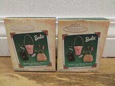 2 New Hallmark Keepsake Ornament Barbie Adding the Right Touch miniatures 2004