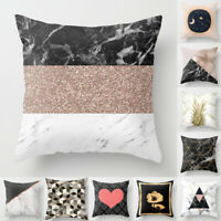 Geometric Pillow Case Marble Pattern Throw Cushion Cover Sofa Home Decorative