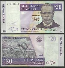 MALAWI 2006 20 Kwacha BANKNOTE UNCIRCULATED