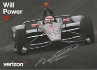 "2019 Will Power signed Verizon ""2nd Version"" Chevy Dallara Indy Car postcard"