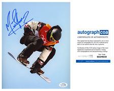 Mark McMorris Signed 2018 Olympics Slopestyle 8x10 Photo EXACT Proof ACOA A