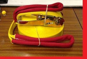 """2""""(50mm) X 25 metre Slackline jib fun sports slack line tight rope ratchet strap"""