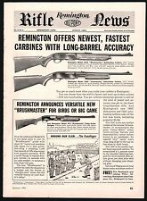 1961 REMINGTON Model 742 Woodmaster Auto, 760 Gamemaster Slide-Action Carbine AD